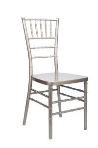 "Champagne Resin ""Inner Steel-Core"" Stacking Chiavari Chair"