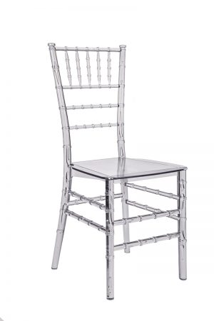 "Clear Resin ""Mono-Frame"" Chiavari Chair"