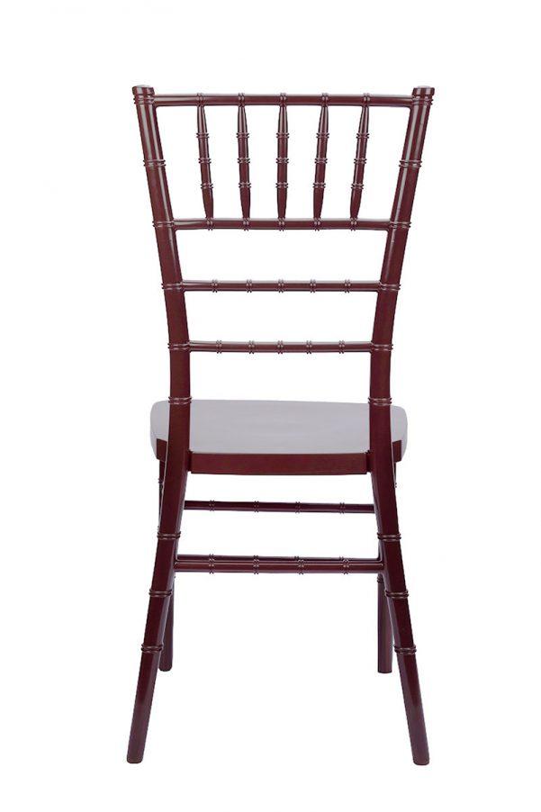 "Fruitwood Resin ""Inner Steel-Core"" Stacking Chiavari Chair"