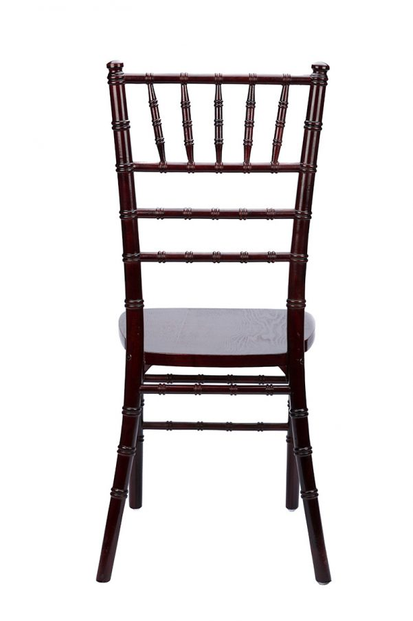 Mahogany Wood Stacking Chiavari Chair