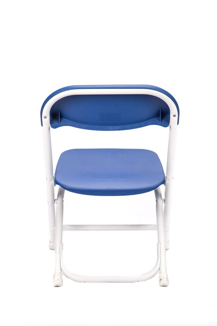blue plastic children 39 s folding chair