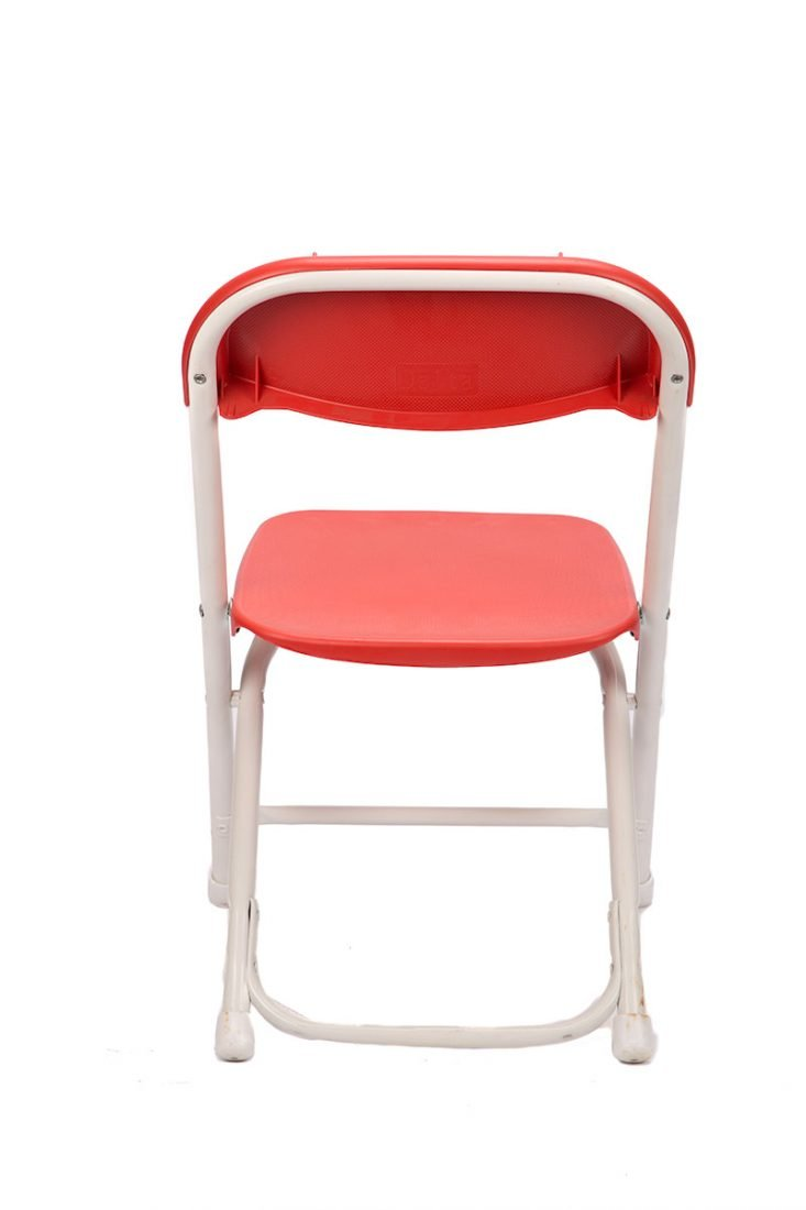 Red Plastic Children S Folding Chair