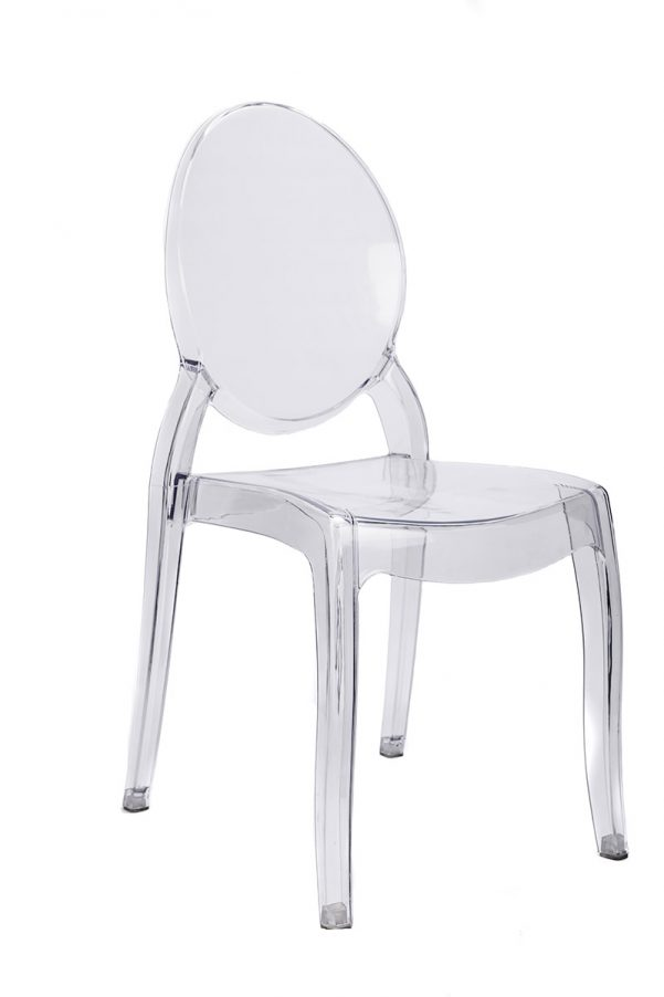 "Clear Resin ""Sophia"" Ghost Chair"
