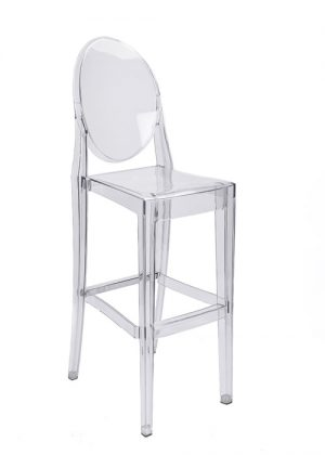 Clear Polycarbonate Ghost Barstool