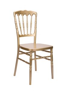 "Gold Resin ""Inner Steel-Core"" Napoleon Chair"