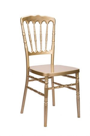 "Gold Resin ""Inner Steel-Core"" Napoleon Chair"