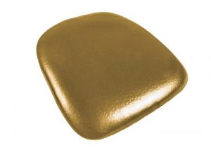 Gold Vinyl Wood Base Chiavari Chair Cushion