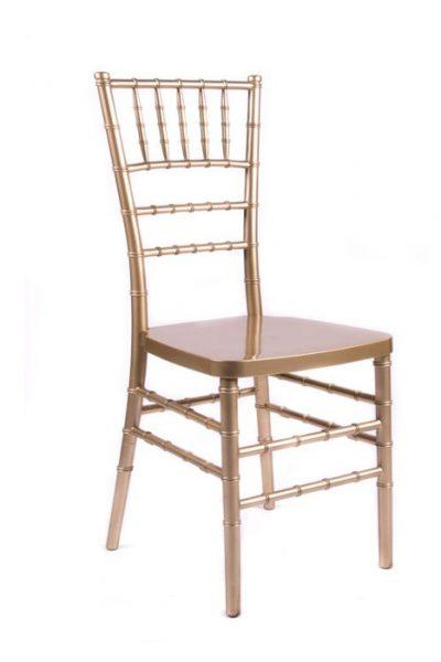 """Gold Resin """"Inner Steel-Core"""" Chiavari Chair"""
