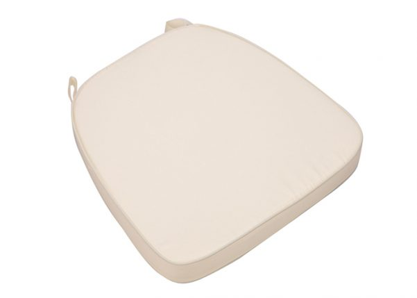 "Ivory Extra Thick ""High Density"" Velcro Strap Chiavari Chair Cushion"