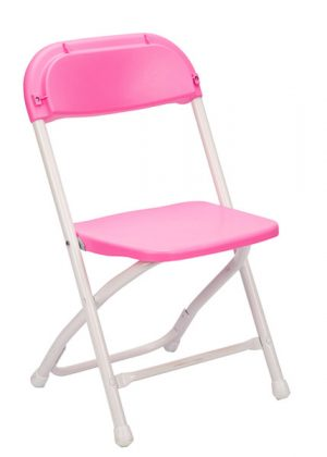 Pink Plastic Children's Folding Chair