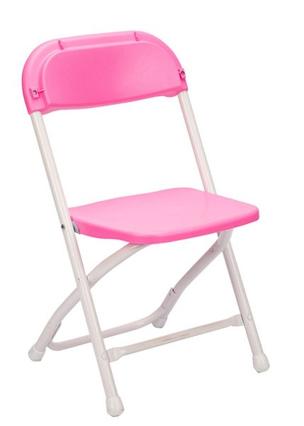Pink Plastic Children s Folding Chair
