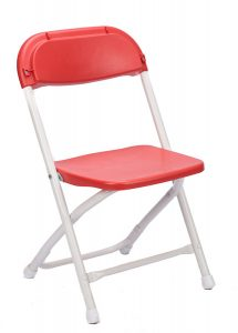 Red Plastic Children's Folding Chair
