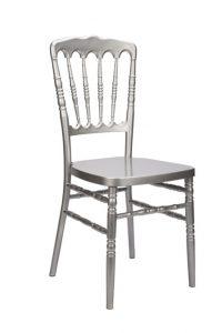 "Silver Resin ""Inner Steel-Core"" Napoleon Chair"