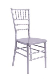 "Silver Resin ""Inner Steel-Core"" Chiavari Chair"