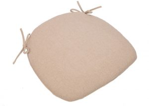 Tan Burlap Cushion with Tie Straps