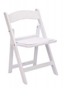 White Resin Children's Folding Chair