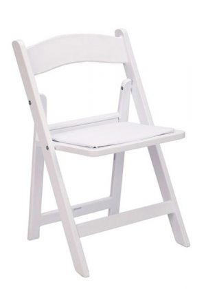 White Resin Children's Folding Chair