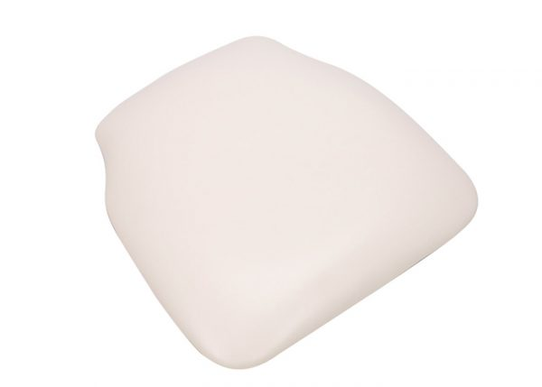 White (off-white) Vinyl Wood Base Chiavari Chair Cushion