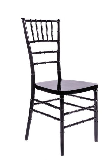 "Black Resin ""Inner Steel-Core"" Chiavari Chair"