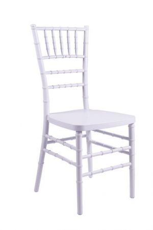 "White Resin ""Inner Steel-Core"" Chiavari Chair"