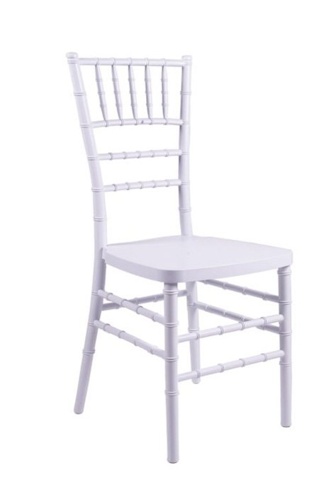 white resin quot inner steel quot chiavari chair the