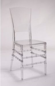 Clear Resin Lanai Chair - Front