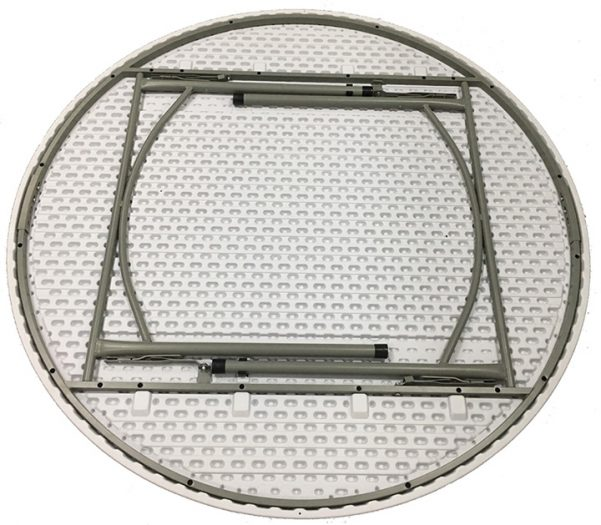 """60"""" Round """"MAX Duty"""" Plastic Banquet Table with Inner Metal Bracing System"""