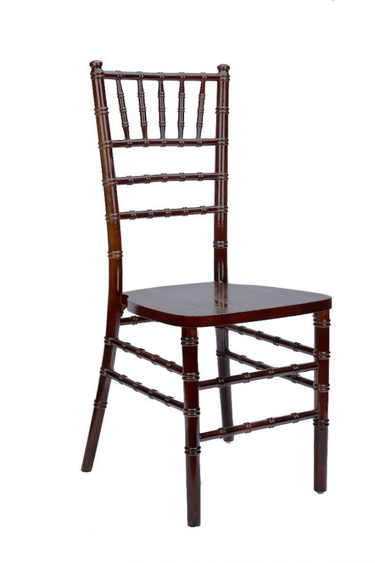 Mahogany Wood Stacking Chiavari Chair Seat Has Purple Color Cover With Cushion Only 70 Units Remaining