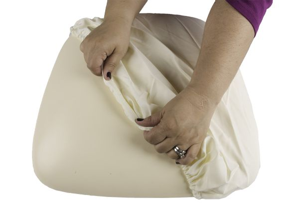 Ivory Fabric Cover for Wood Base Cushion (CO)