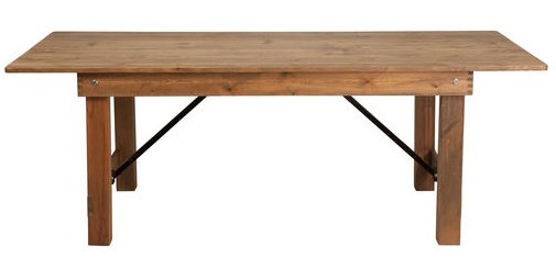 96 x 40 Rustic Pine Folding Farm Table