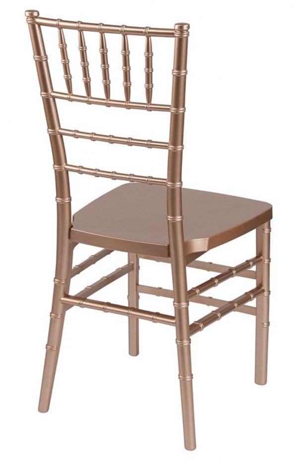 "Rose Gold Resin ""Mono-Frame"" Chiavari Chair"