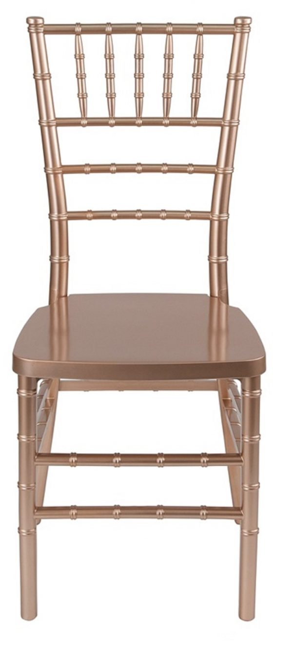 "Rose Gold Resin ""Mono-Frame"" Chiavari Chair"