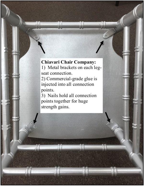 """Gold Wood Stacking """"ANSI BIFMA Certified"""" Chiavari Chair"""