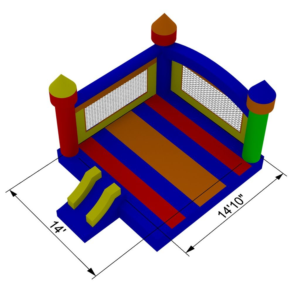 Commercial Grade Large Castle Bounce House with Blower