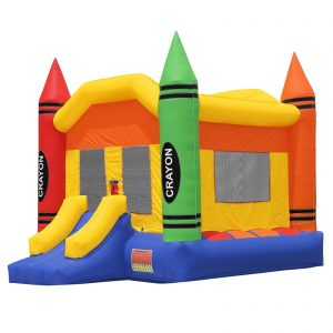 Commercial Grade Crayon Bounce House with Blower 1