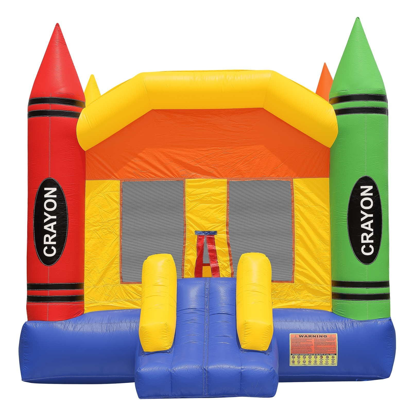 Commercial Grade Crayon Bounce House with Blower