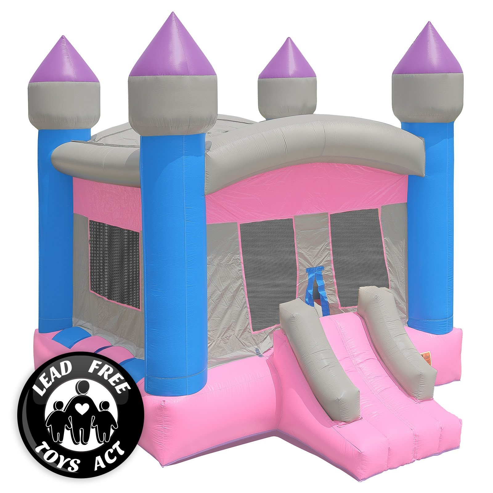 Commercial Grade Princess Bounce House with Blower
