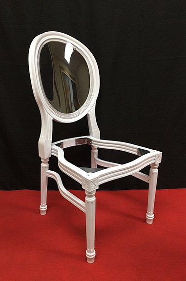 Black Resin Louis Pop Chair with Clear Back Rest