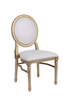 louis pop chair gold white