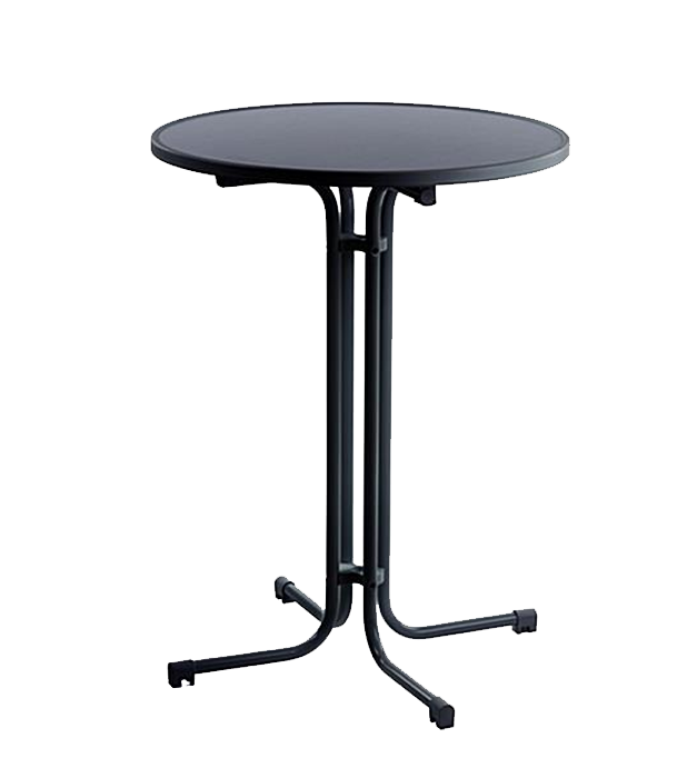 31 5 Round Plastic Cocktail Folding Table Folds Transports Easily Only Two Pieces Doesn T Require Linens