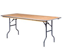 Rectangle Wood Banquet Table