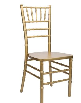 Gold Wood Stacking Chiavari Chair