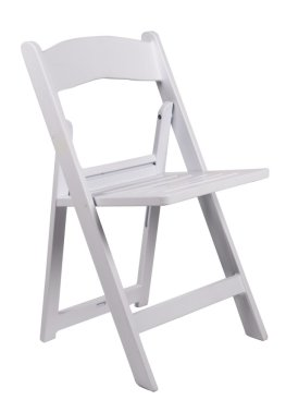 White Resin Folding Chair700x980