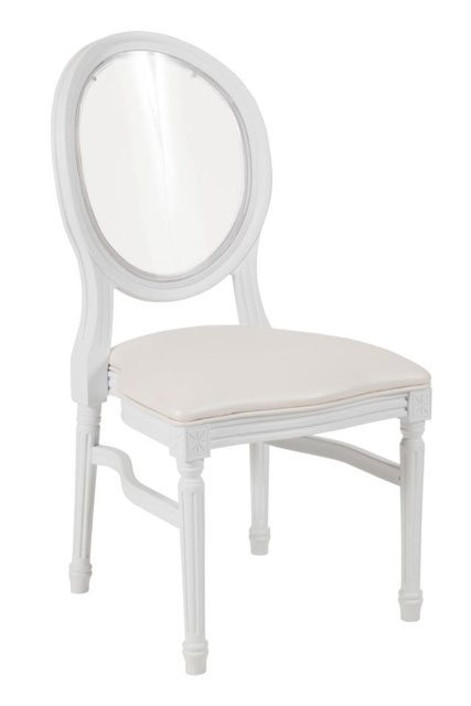 white resin louis pop chair