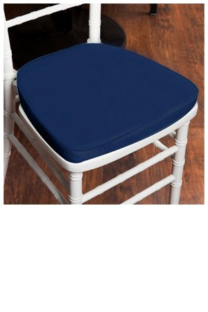 cushion chiavari velcro strap blue