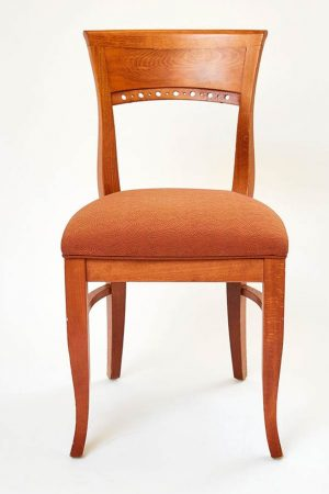 Chair Restaurant Wood Light Fruitwood with Fabric Seat