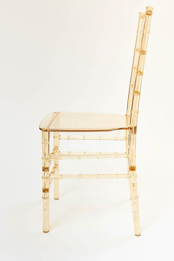 gold champagne resin chair