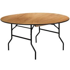 60 inch round plywood banquet table with vinyl edge