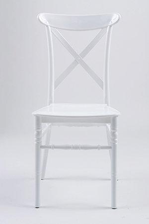 white crossback chair b