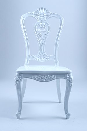 white royal chair